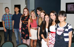 GSC Exchange students at Channel 11 interview 2012